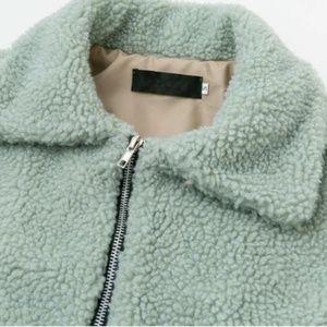Jackets & Coats - Teddy Bear Faux Shearling Cropped Jacket | Mint